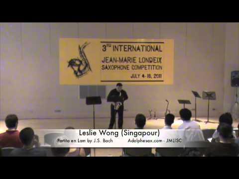 3rd JMLISC: Leslie Wong (Singapour) Partita en Am J.S. Bach