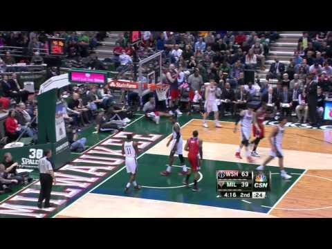 Washington Wizards vs Milwaukee Bucks | March 8, 2014 | NBA 2013-14 Season