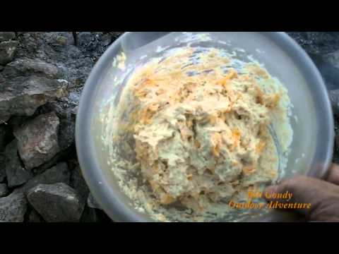 Campfire Cooking -   Cheddar Bay Biscuits -   Dutch Oven