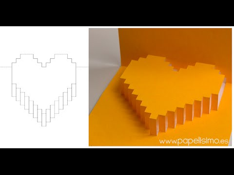 Tarjeta de corazón 3D