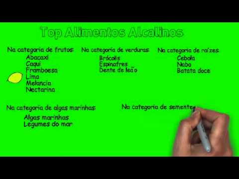 Top alimentos alcalinos / alcalinizantes (Lista para baixar grátis)