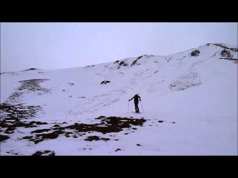 Ascensión y descenso con esquís de la Cap de la Pène de Soulit