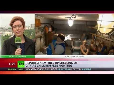 200 Children Evacuated from Slavyansk, E.Ukraine, escaping Kiev's shelling