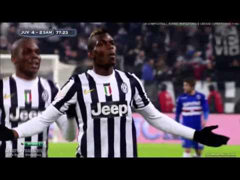 Paul Pogba Fantastic Golazo! Juventus vs Sampdoria 4 2 Serie A 2014 HD