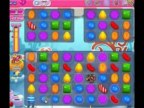 How to beat Candy Crush Saga Level 307 - 2 Stars - No Boosters - 146