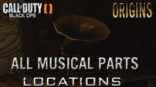 Black Ops 2 Zombies Origins All Part Locations For Main