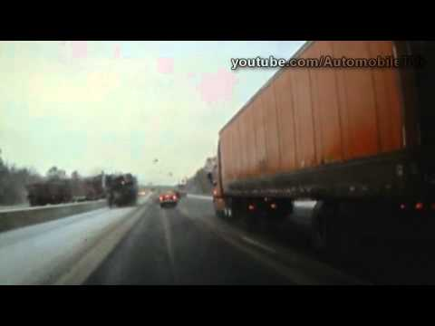 Lucky Driver Avoids Crashing Tractor Trailer