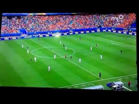 Spain 1 Netherlands 5 (Robin Van Persie Goal) 44' (13/6/14) HQ
