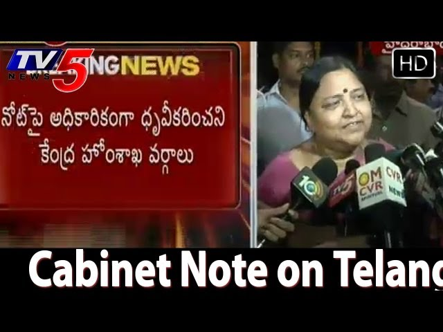 Panabaka Lakshmi Talk About Cabinet Note on Telangana -  TV5