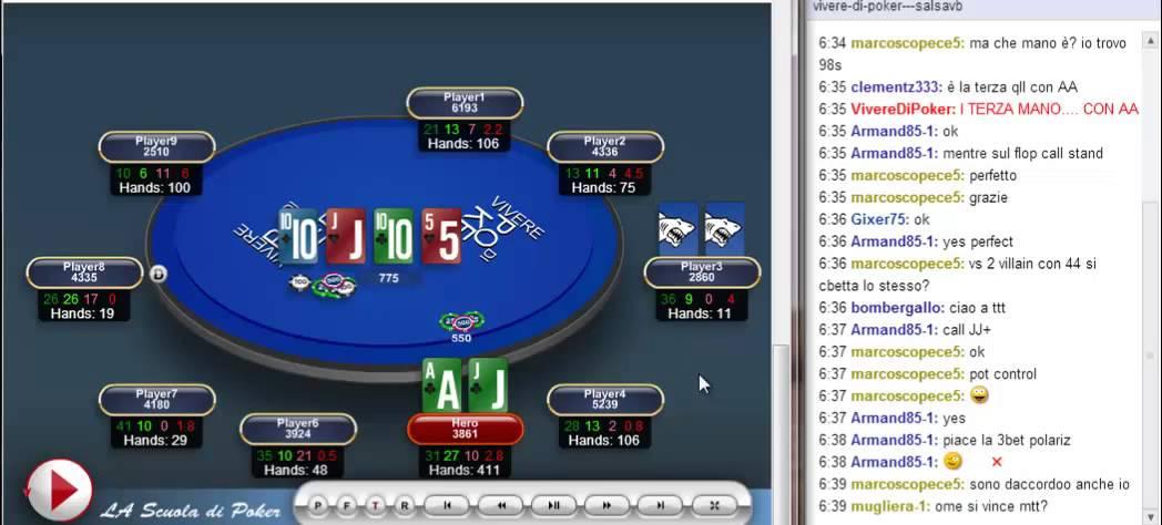 Vivere con il poker online