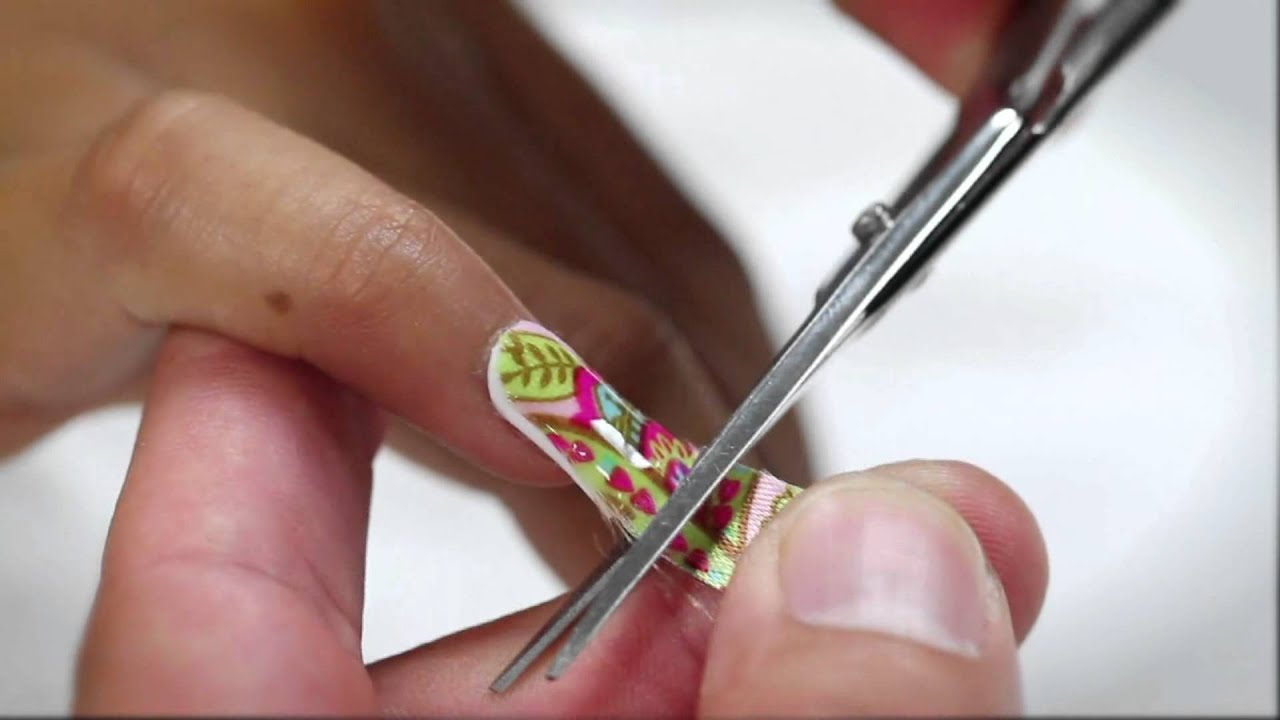 Nail Art Lesson 1 - Unique Silk Wraps - YouTube