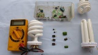 Reparación de bombillas bajo consumo