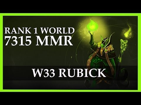 w33 Rubick Gameplay 7315 MMR Rank 1 World