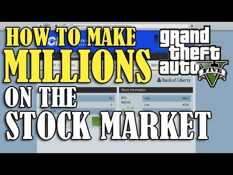 gta 5 how to make money in stock market