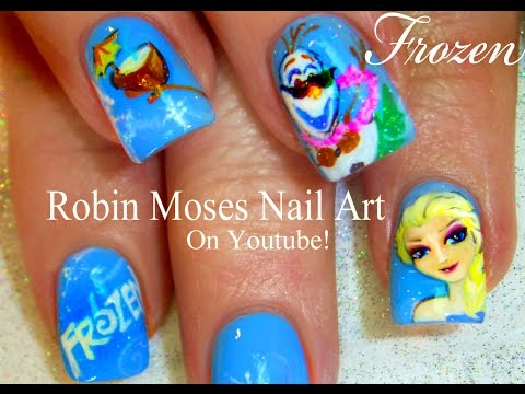 FROZEN nail art