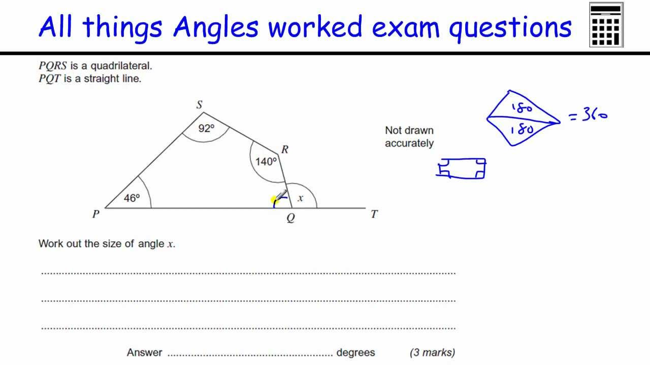 find the missing angle worksheet