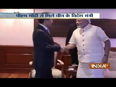 Watch: Narendra Modi meets Chinese foreign minister Wang Yi,discusses bilateral issues