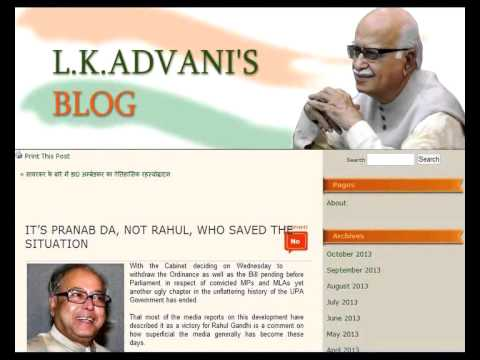Ordinance  Advani praises Pranab, not Rahul for saving situation