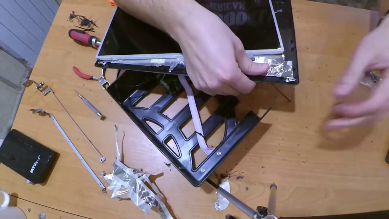 Монитор из экрана ноутбука своими руками