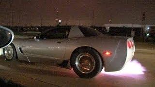 TX2K14 Turbo Corvette Z06 Battles TEXAS STREETS!