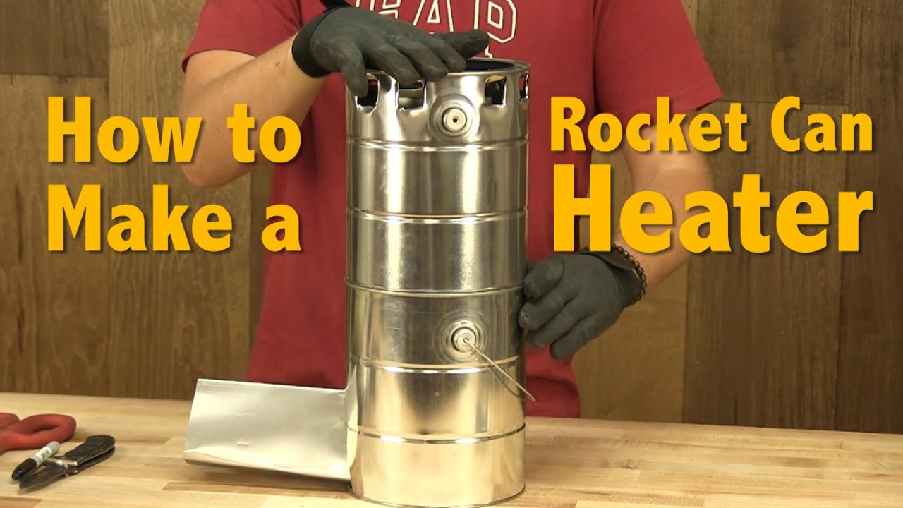 How to make a rocket can heater diy rocket stove for How to make a rocket stove