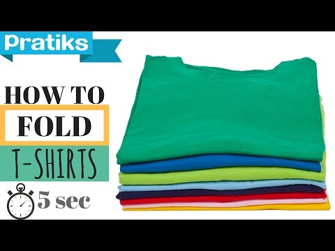 how to fold a t shirt in 5 seconds youtube. Black Bedroom Furniture Sets. Home Design Ideas
