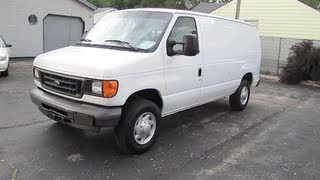 2007 FORD E-250 VAN Super Duty Econoline Cargo Start Up and Review videos