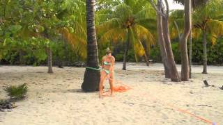 Slacklining at Paya Bay - Courtesy of OceanIslandTravel.com