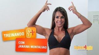 Treino de tríceps e bíceps com Janaina Montalvão