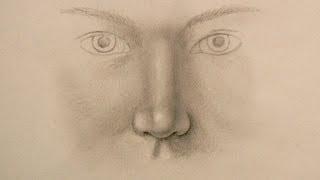 Como dibujar una nariz realista