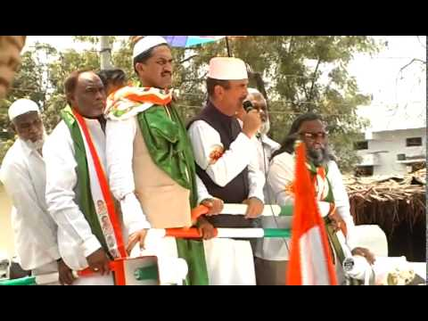 Gulam Nabi Azad addressing Sangareddy people