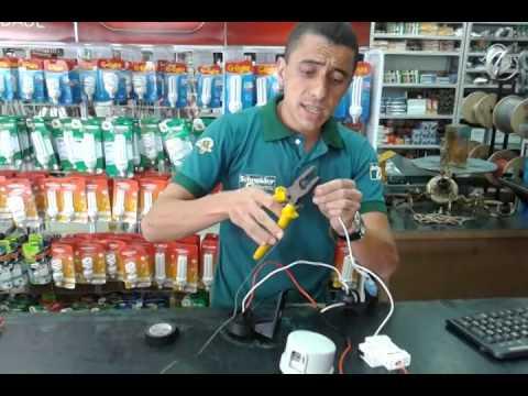 Como instalar Relé fotoelétrico.