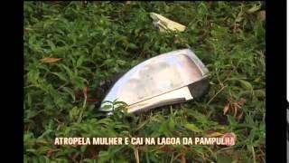 Motorista atropela mulher e carro cai na Lagoa da Pampulha
