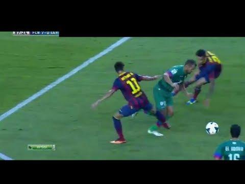 Neymar vs Levante, La Liga Debut, First Touch+Skills+Yellow Card, FULL HIGHLIGHTS