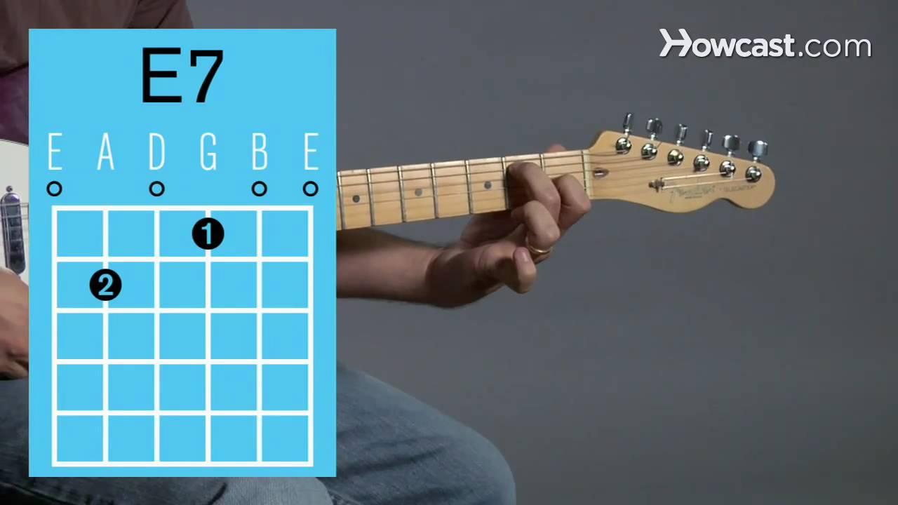 How to Play an E7 Open Chord : Guitar Lessons - YouTube
