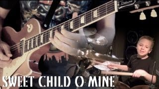'SWEET CHILD O MINE' - Instrumental Cover - Performed by Karl Golden & Avery Drummer (Aged 6)