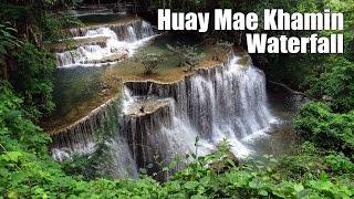 Huay Mae Khamin Waterfall, Kanchanaburi Province