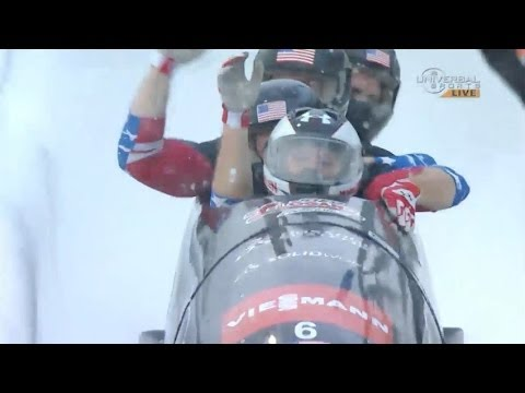 Holcomb wins 4 Man Bobsled at Lake Placid - Universal Sports