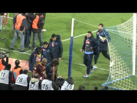 Napoli-Roma 1-0 09-03-2014 Finale Partita Live in HD dalla Curva B
