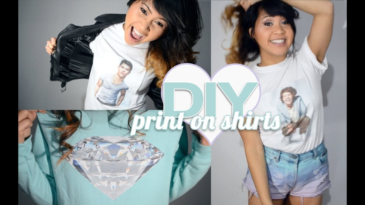Diy How To Print Your Own T Shirts Sweatshirts At Home Youtube