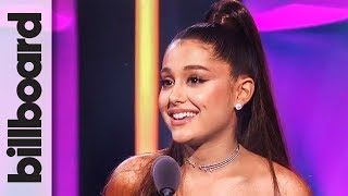 Ariana Grande Accepts Woman of the Year Award | Women in Music