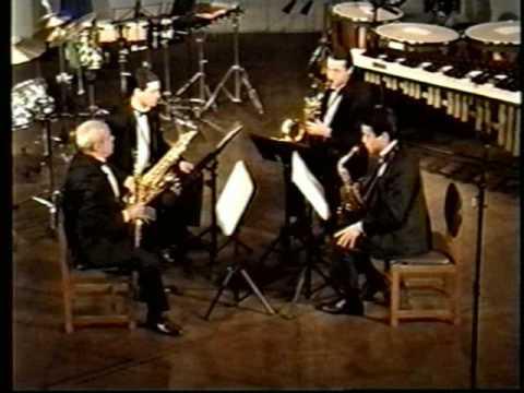 Andante-Presto para Cuarteto de saxofones del compositor Pierre Max Dubois