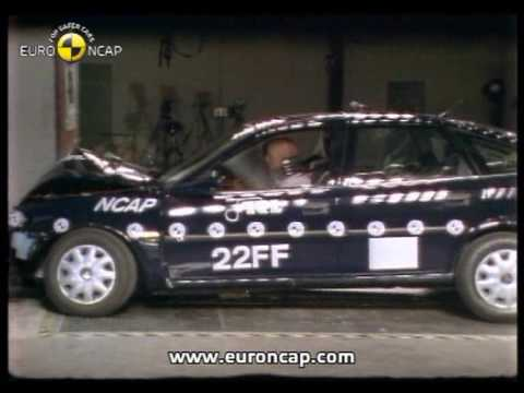euro ncap opel vauxhall vectra 1997 crash test youtube. Black Bedroom Furniture Sets. Home Design Ideas