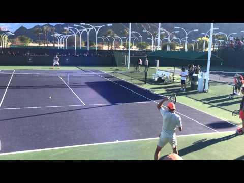 Rafael Nadal 2014 Indian Wells Practice 3.8.14 BNP Paribas Open