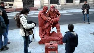 Estatua viviente en Madrid