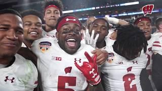 Wisconsin Football Celebrates Orange Bowl Victory