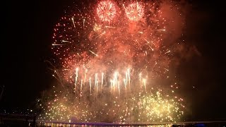 Singapore Marina Bay New Year Countdown Fireworks 2014 [2