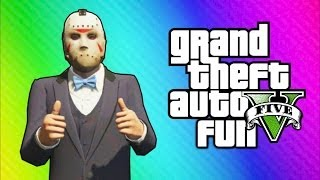 GTA 5 Online Funny Moments Car Horn Orchestra, Freeze
