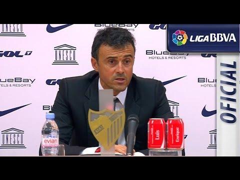 Rueda de Prensa de Luis Enrique tras el Málaga CF (0-5) Celta de Vigo - HD