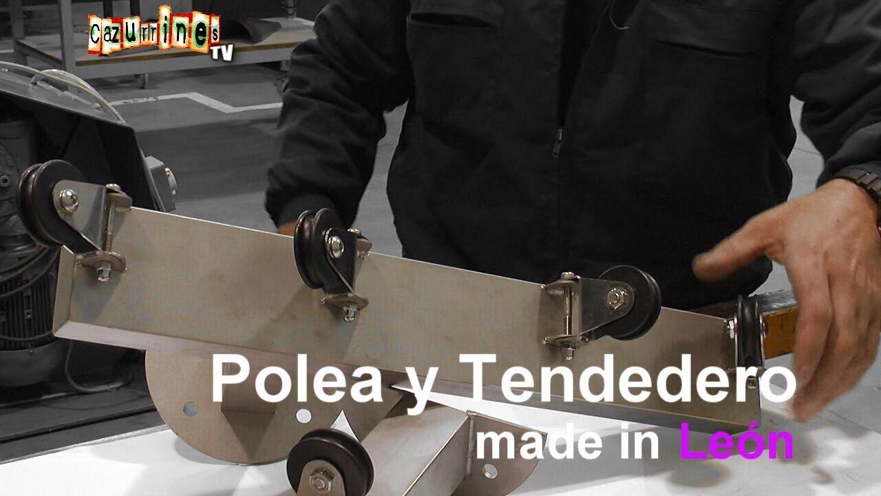 Made in le n fabricamos una polea y un tendedero hecho en - Poleas para tendederos ...